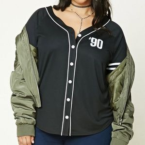 Forever 21 Plus Made in the 90s baseball Jersey 1X
